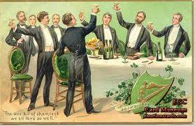 Traditionally the Irish drink during wakes to honor the dead. Saint Patrick's day is celebrated on the day it is thought Saint Patrick died… making the holiday similar to being at his wake. This makes drinking a natural choice.