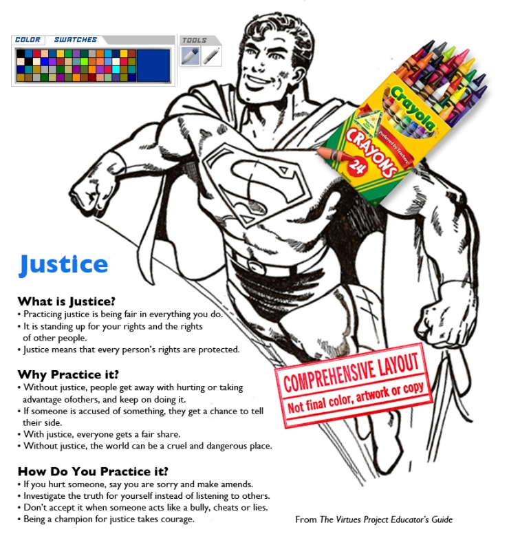Color me cartoons_superman