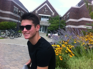 My son, Nicolas, outside his dorm at Rensselaer Polytechnic Institute.